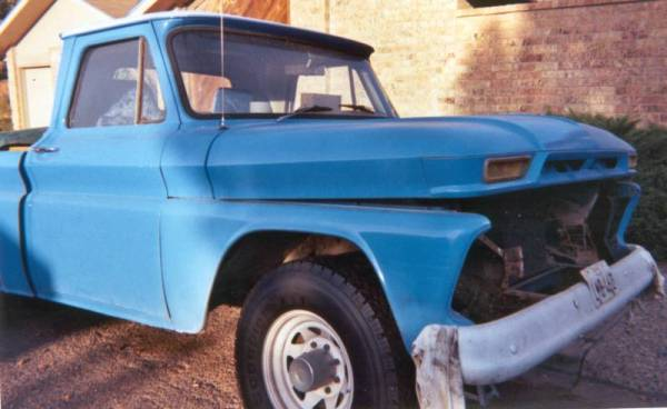 The Smurf a 1964 GMC Truck